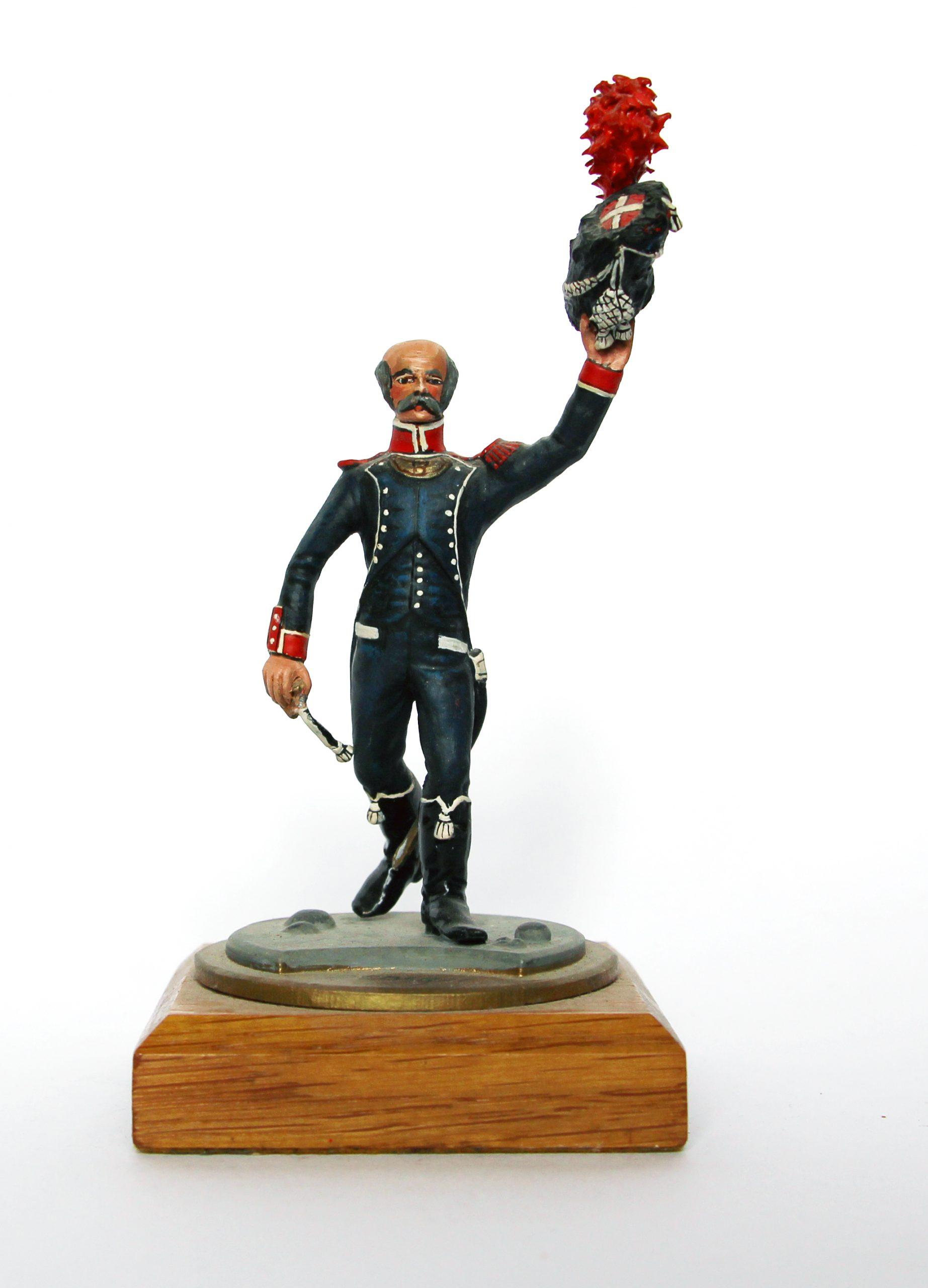 Figurine Series 77 - Peinture collectionneur - Officier des Carabiniers d'infanterie légère - 1er Empire 1809