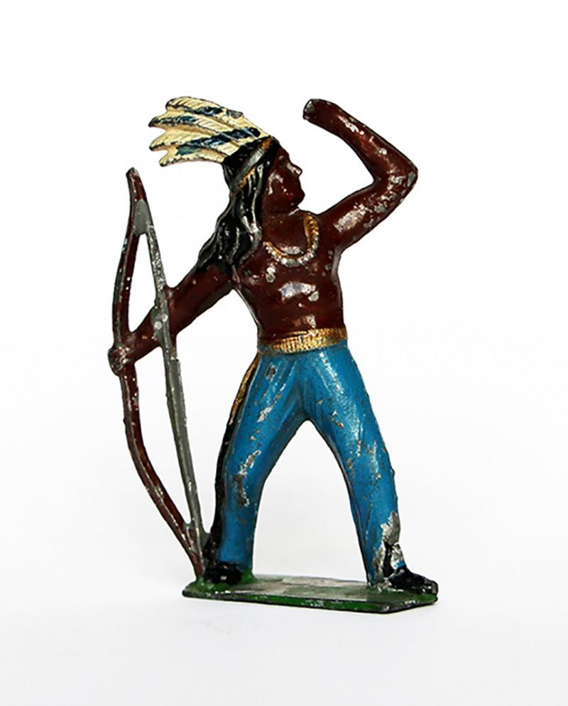 Ancienne Figurine Plomb Creux année 50/60 - Indien
