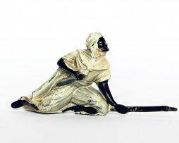 Ancienne Figurine Plomb Creux année 50/60 - Arabe Guerre Afrique
