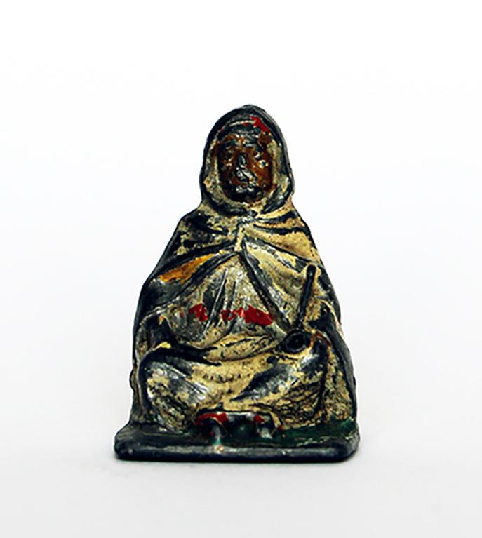 Ancienne Figurine Plomb Creux année 50/60 - Arabe Guerre Afrique Chef de village