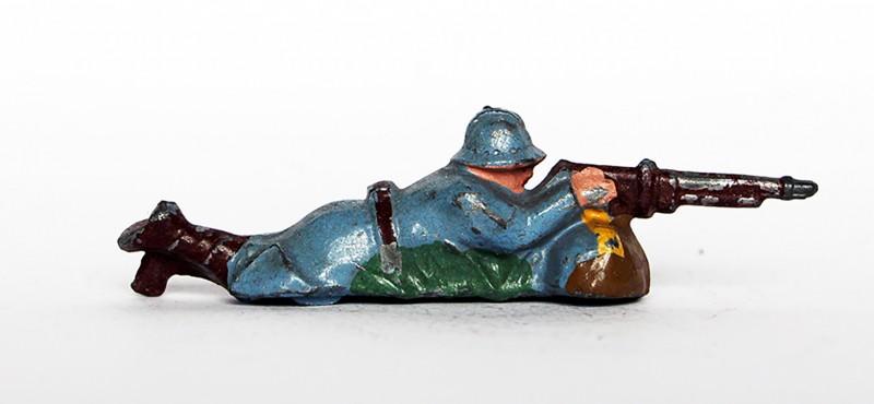 Ancienne Figurine Plomb Creux année 50/60 - Infanterie française - Mitrailleur