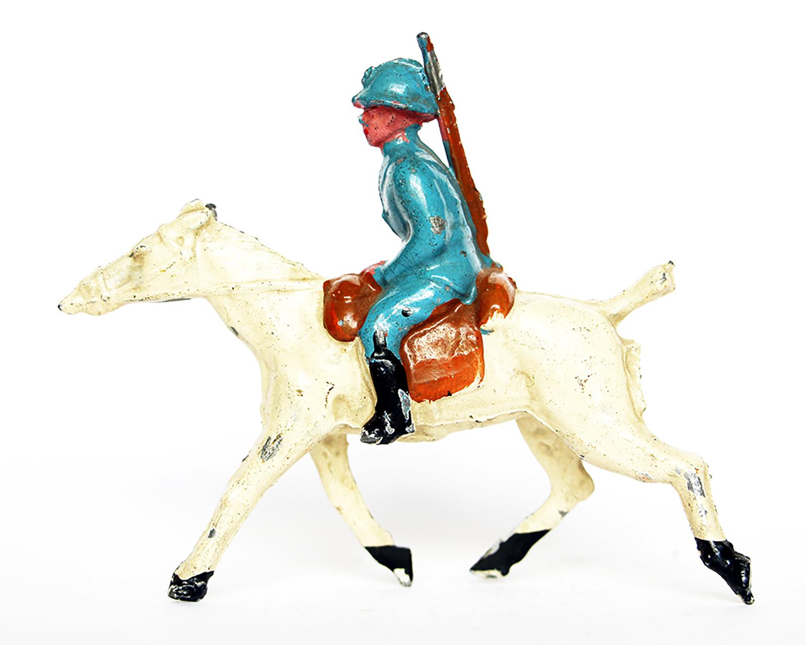 Ancienne Figurine Plomb Creux année 50/60 - Armée française - Cavalier