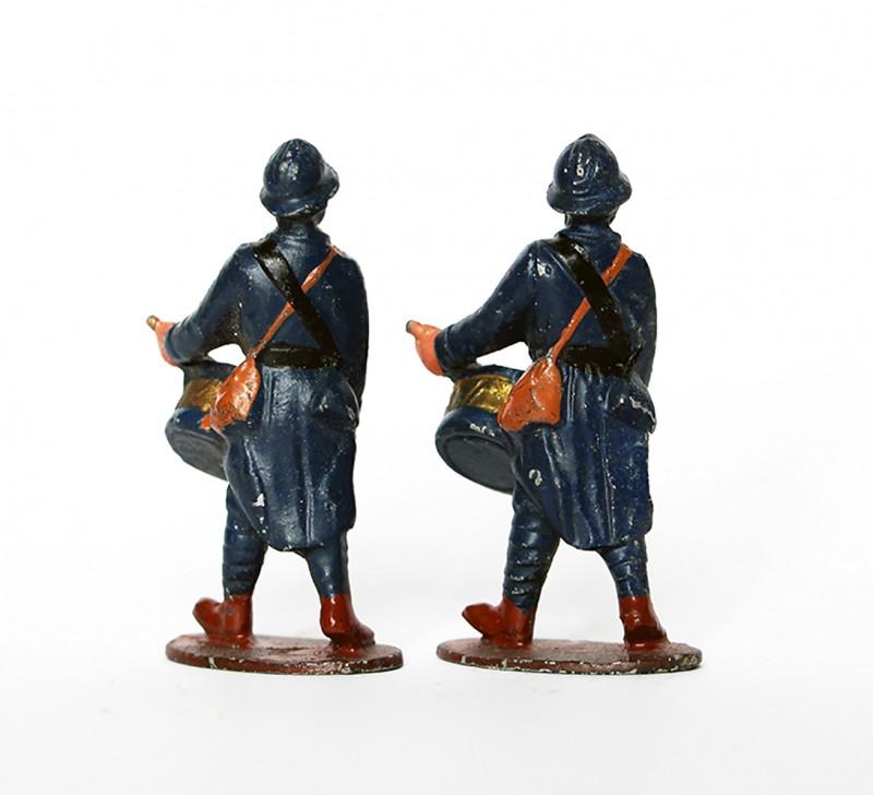 Anciennes Figurines Quiralu année 50/60 - Infanterie Chasseur Française - Défilé Guerre