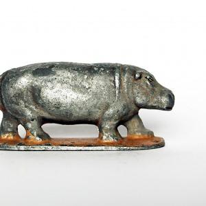 Ancienne Figurine Quiralu année 50/60 - Animal Zoo - Hippopotame Afrique