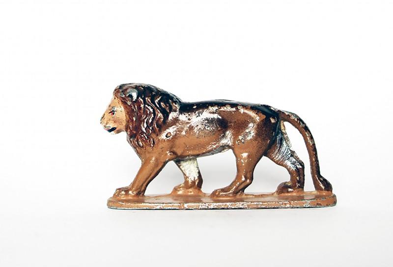 Ancienne Figurine Quiralu année 50/60 - Animal Zoo - Lion Afrique