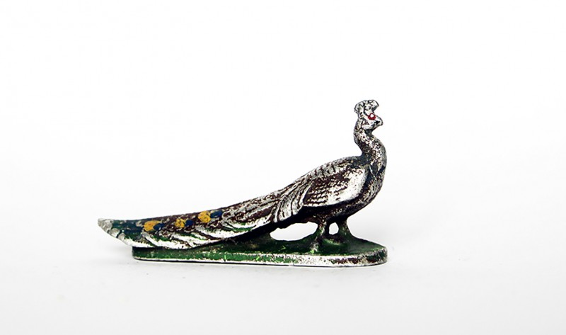 Ancienne Figurine Quiralu année 50/60 - Animal Zoo - Paon
