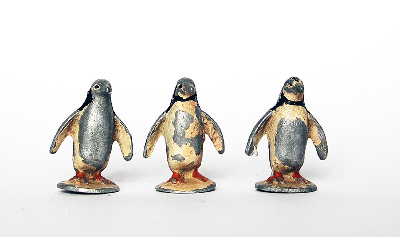 Ancienne Figurine Quiralu année 50/60 - Animal Zoo - Pingouins