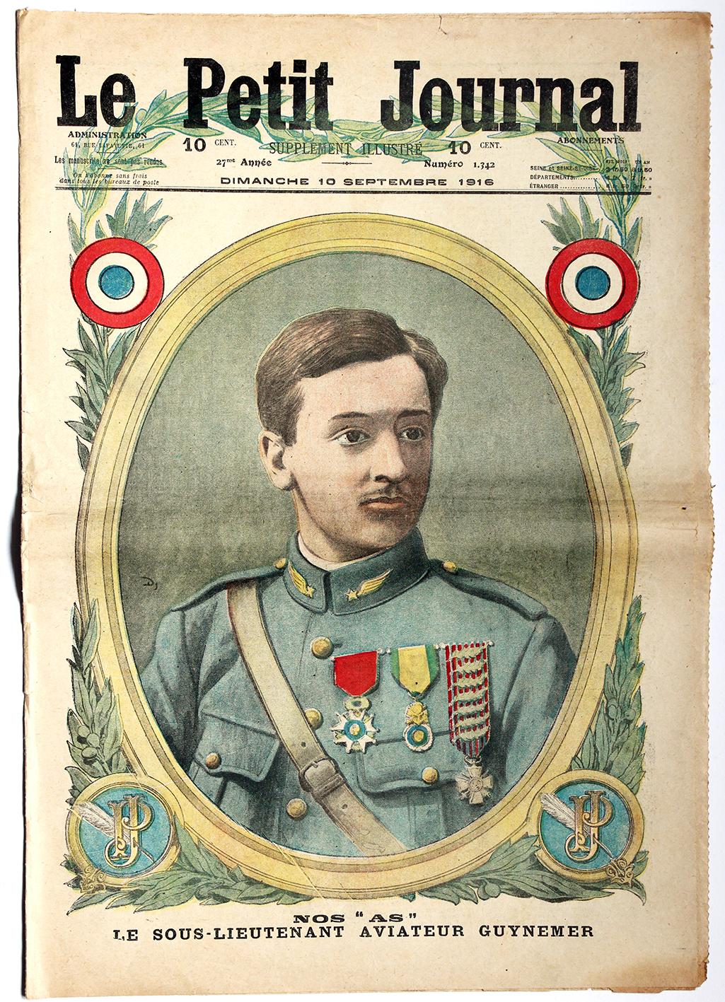 Le petit journal - supplément illustré - 10 septembre 1916 - Guynemer As Aviation