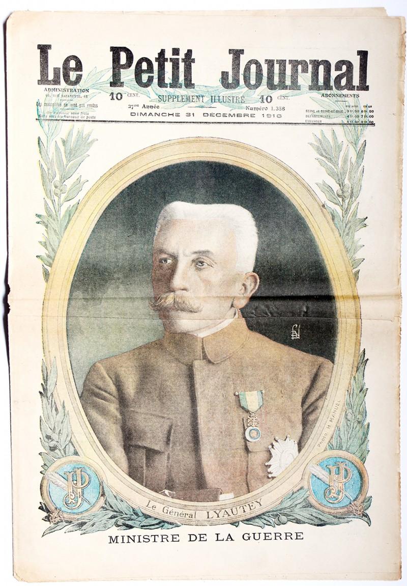 Le petit journal - supplément illustré - 31 décembre 1916 - Lyautey - Ministre de la guerre