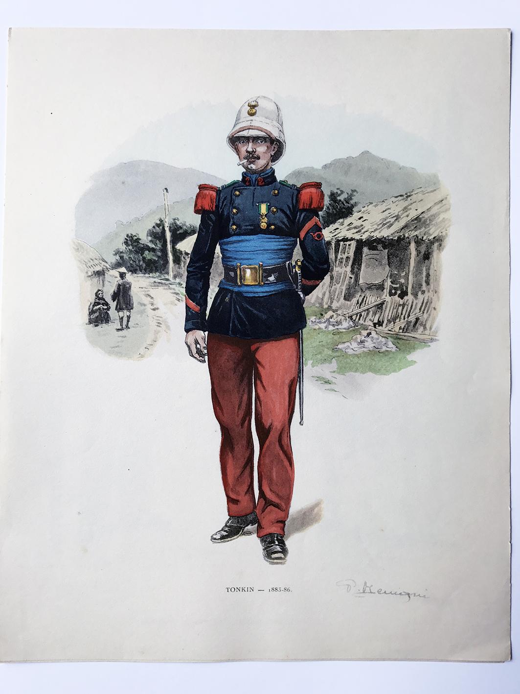 Pierre Benigni - Gravures uniformes de la Légion Etrangère