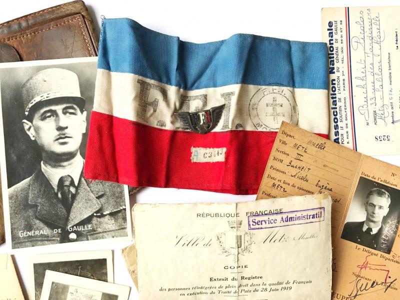 Brassard FFI - Guerre 39/45 - Objets d'Histoire
