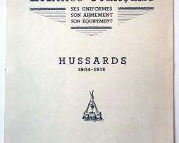 Planche sur l'armée Française N°57 - Hussards 1804/1812 - Lucien Rousselot 1957