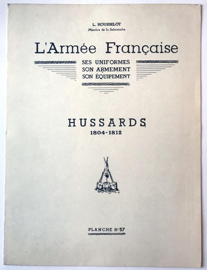 Hussards Rousselot planche uniforme