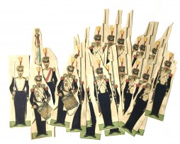 Lots Petits Soldats de Strasbourg - Grenadiers Garde Second Empire et Voltigeurs 1855 - Silberman