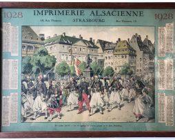Calendrier Imprimerie Alsacienne – Huen Victor – Zouaves partant pour le combat 1870.