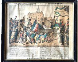 Faits historiques de l'Alsace. Napoleon 1er et les écoliers de Strasbourg.