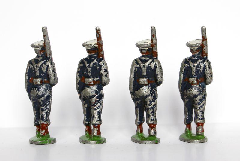 7 Anciennes Figurines Quiralu année 50/60 - Aviation Française - Défilé Guerre