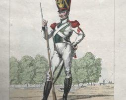 Gravure XIX - Genty - Troupes française - Légion Départementale de la Seine - Grenadier