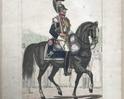 Gravure XIX - Martinet - Troupes française - Cuirassiers Garde Royal 1816