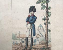 Gravure XIX - Martinet - Troupes française - Commissaire des Guerres