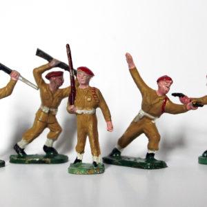 Figurines Plastique Parachutistes 1950