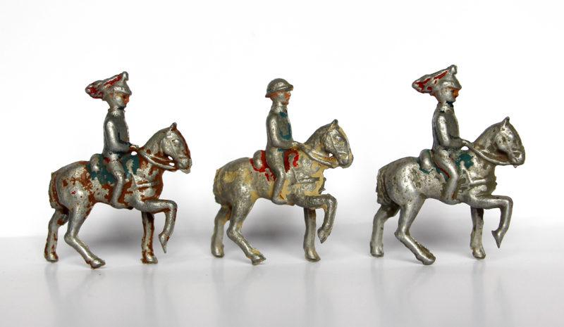 3 Anciennes Figurines Plomb XXeme - Cavalier - 1er Guerre Mondiale