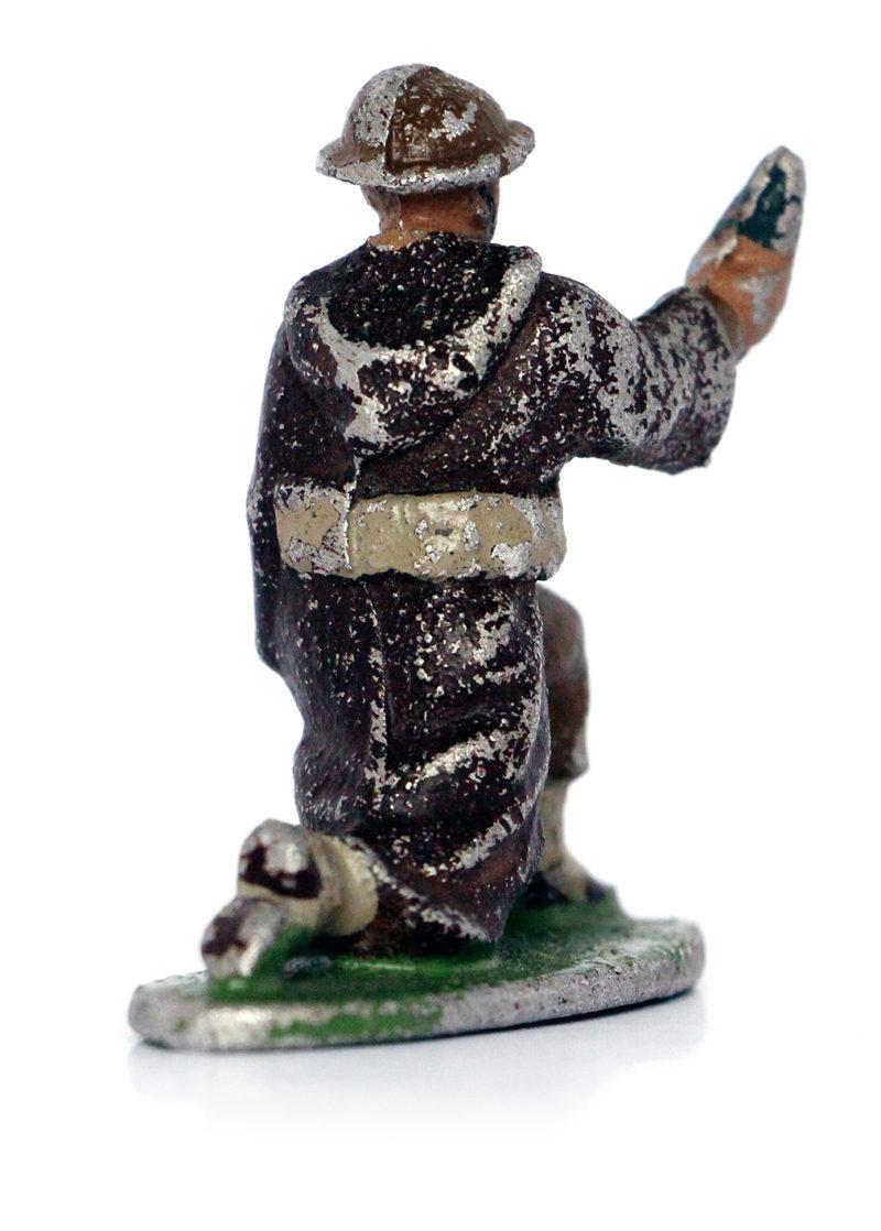 Figurine Quiralu ancienne Tirailleur Goumier Marocain Tabor 1944 Mortier