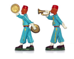 Figurines Starlux anciennes 2 musiciens Turcos