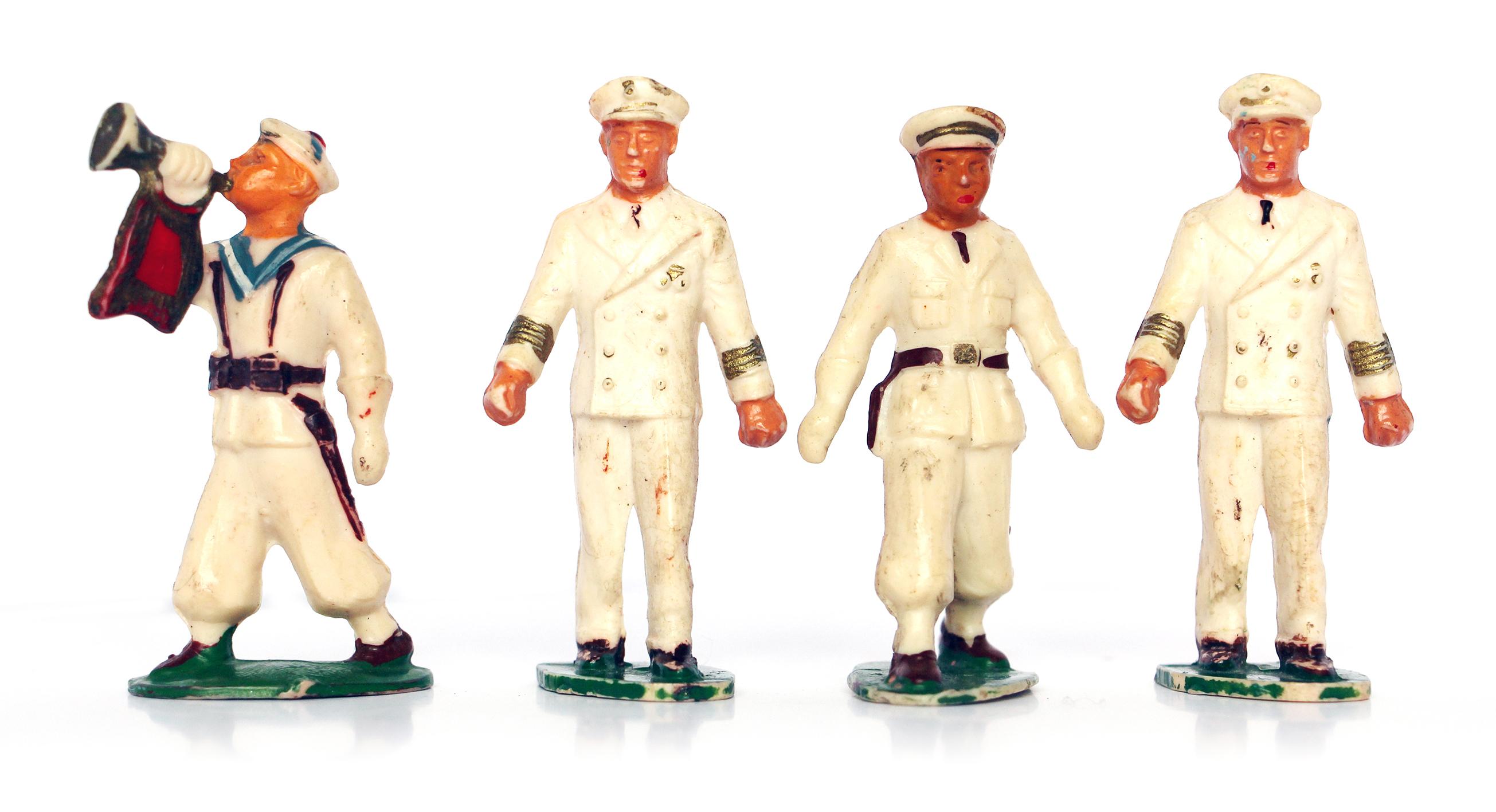 5 Figurines Starlux rondouillard - Marine - Défilé - Musique - France