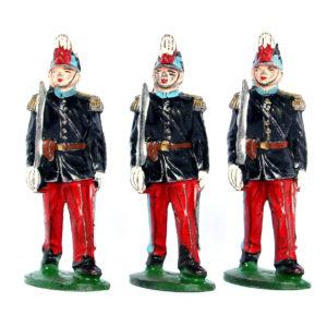 21 Figurines Type Quiralu Infanterie St Cyr - Plastique - Peinture d'origine