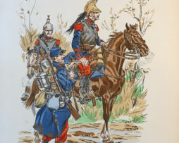 Eugène Leliepvre - France 1914 - Cuirassiers - La gravure Française