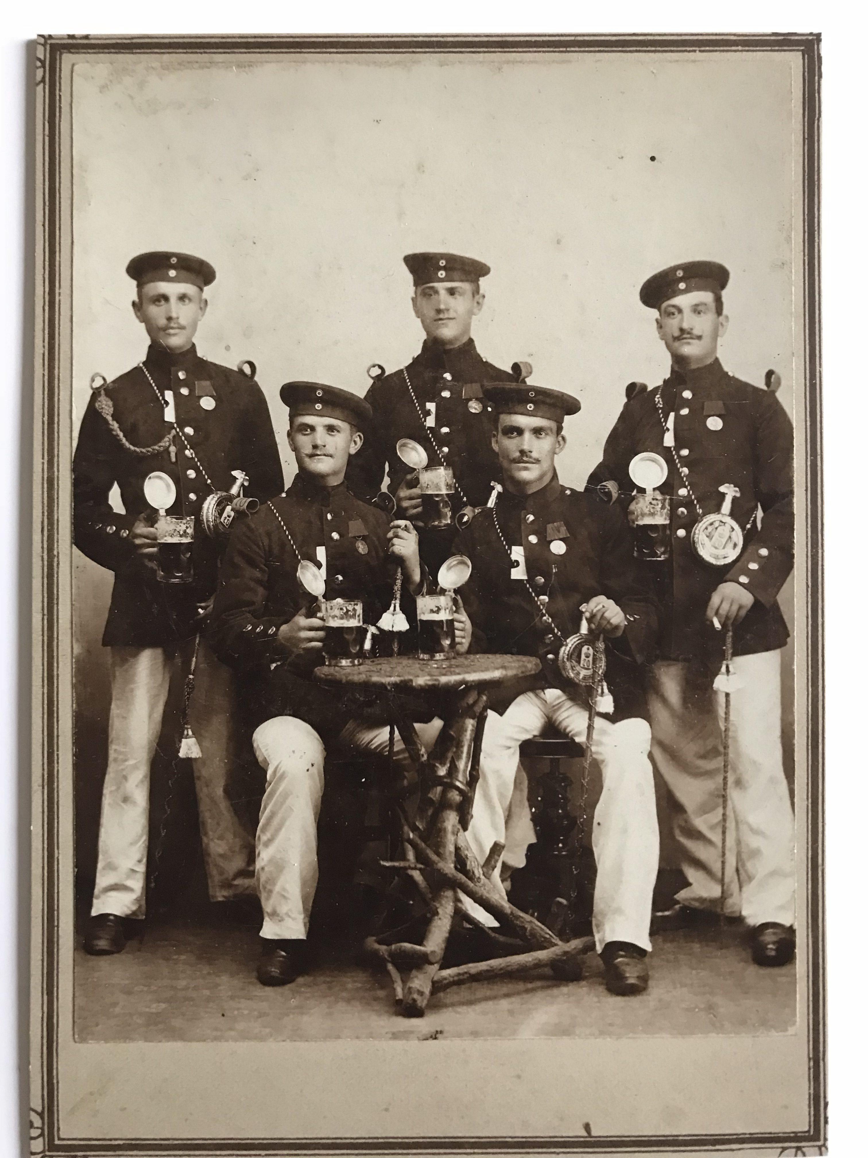 CDV Carte Photo Allemagne Service militaire XIX siècle photographie objet du soldat