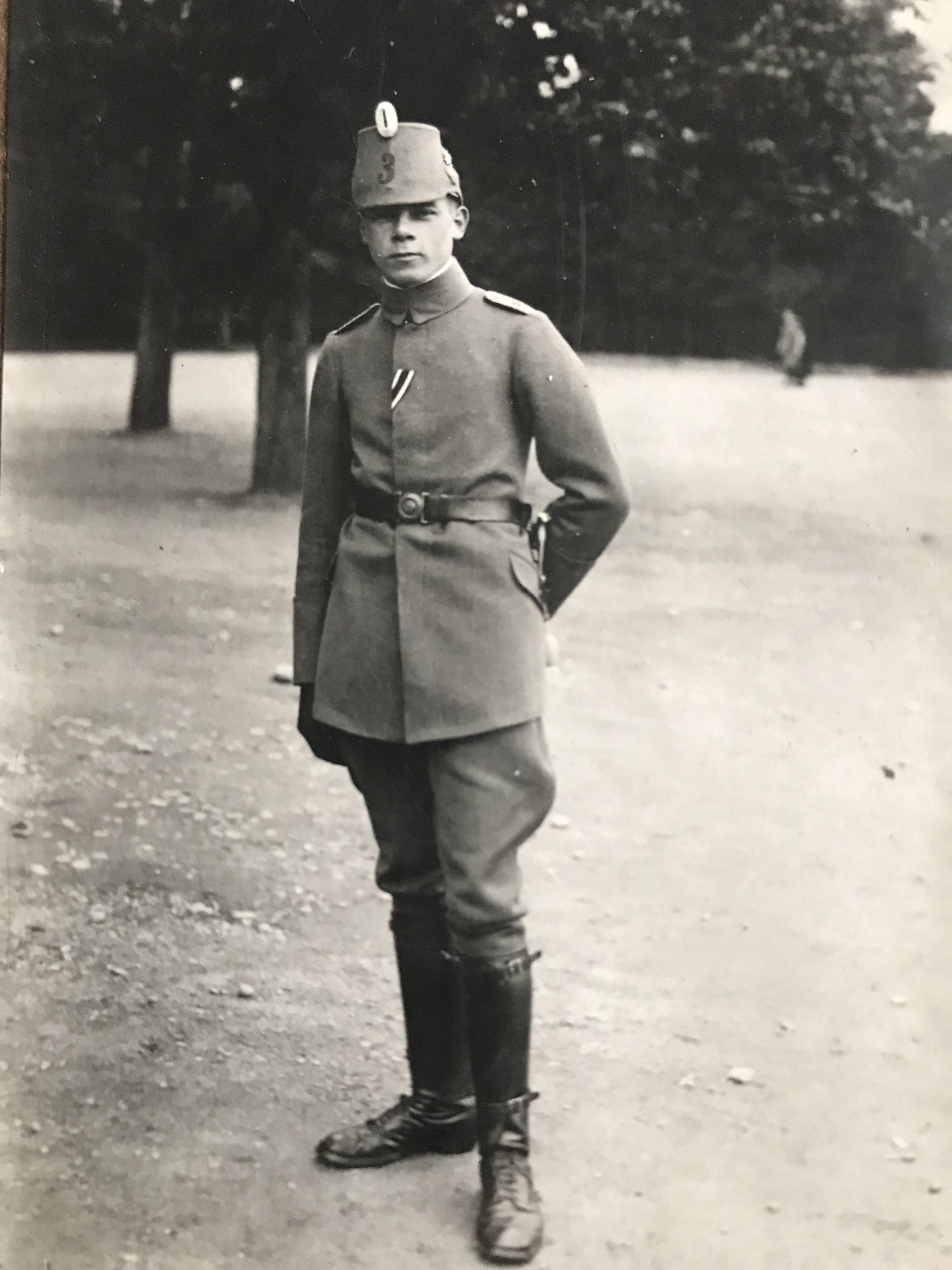 CDV Carte Photographie Prusse Chasseur 1916 Verdun