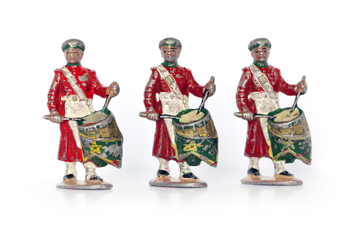 8 Anciennes Figurines Quiralu année 50/60 - Fanfare Garde du Sultan - Défilé Guerre