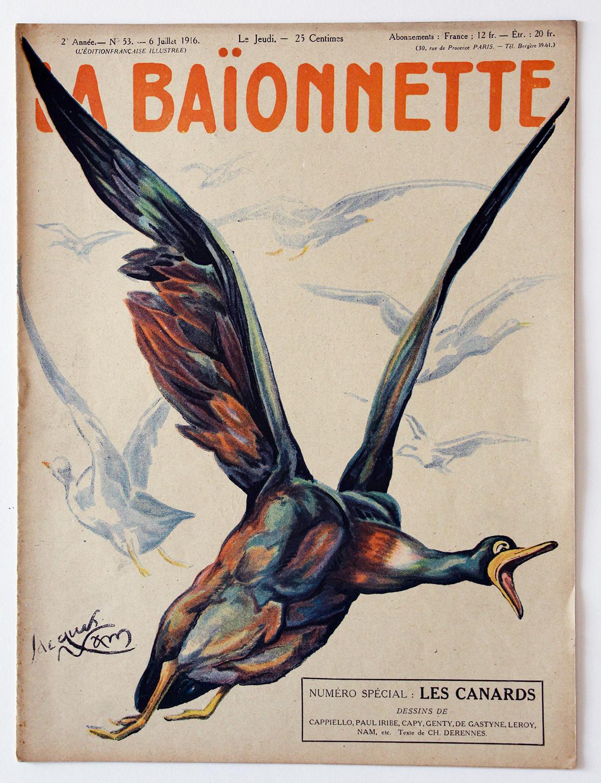 Revue Satirique - La BaÏonnette - Juillet 1916 - Numéro 53 - Guerre 14/18
