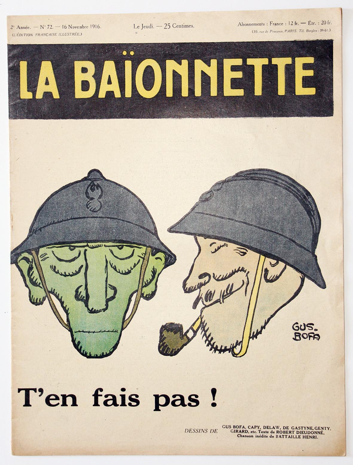 Revue Satirique - La BaÏonnette - Novembre 1916 - Numéro 72 - Guerre 14/18