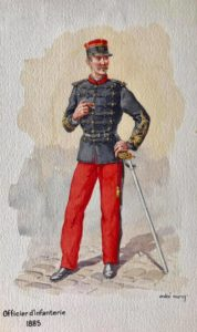 Uniforme 3eme République Infanterie Détaché à l'état major 1895