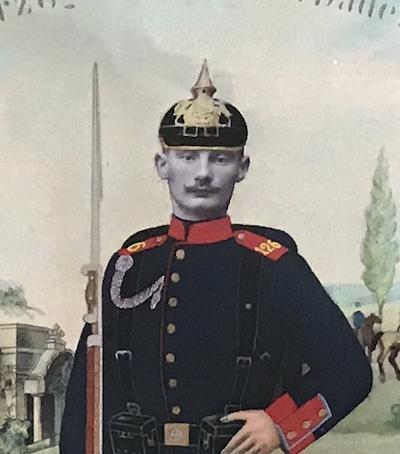 Tableau de Réserviste Allemand 1906/1908 - Uniforme Infanterie Régiment 126 - Baden - Garnison Strasbourg