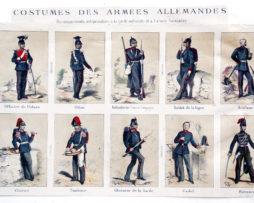 Planches documentaires sur l'armée Allemande - Renseignements indispensables à la garde nationale et à l'armée française