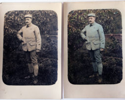Poilu - Carte photo colonisée - Guerre 14/18 - Uniforme Horizon