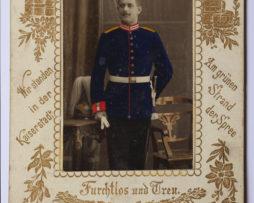 CDV militaire Garde Impériale Allemagne 1898/1900 Uniforme Couleur