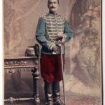 Grande Carte de Visite militaire - Militaire tenue - Uniforme Hussard 5 régiment fin XIX - Nancy