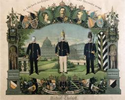 Tableau de Réserviste Allemand 1900/1905 - Uniforme Infanterie de la Garde - Prusse - Garnison Berlin