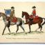 COLONEL DUGUÉ MAC Cathy - Planche Uniforme Maison du Roy - Trompette et Gendarme de la Compagnie des Gendarmes de la Garde - 1745