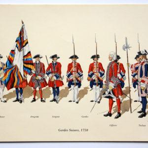 COLONEL DUGUÉ MAC Cathy - Garde Suisses - 1750