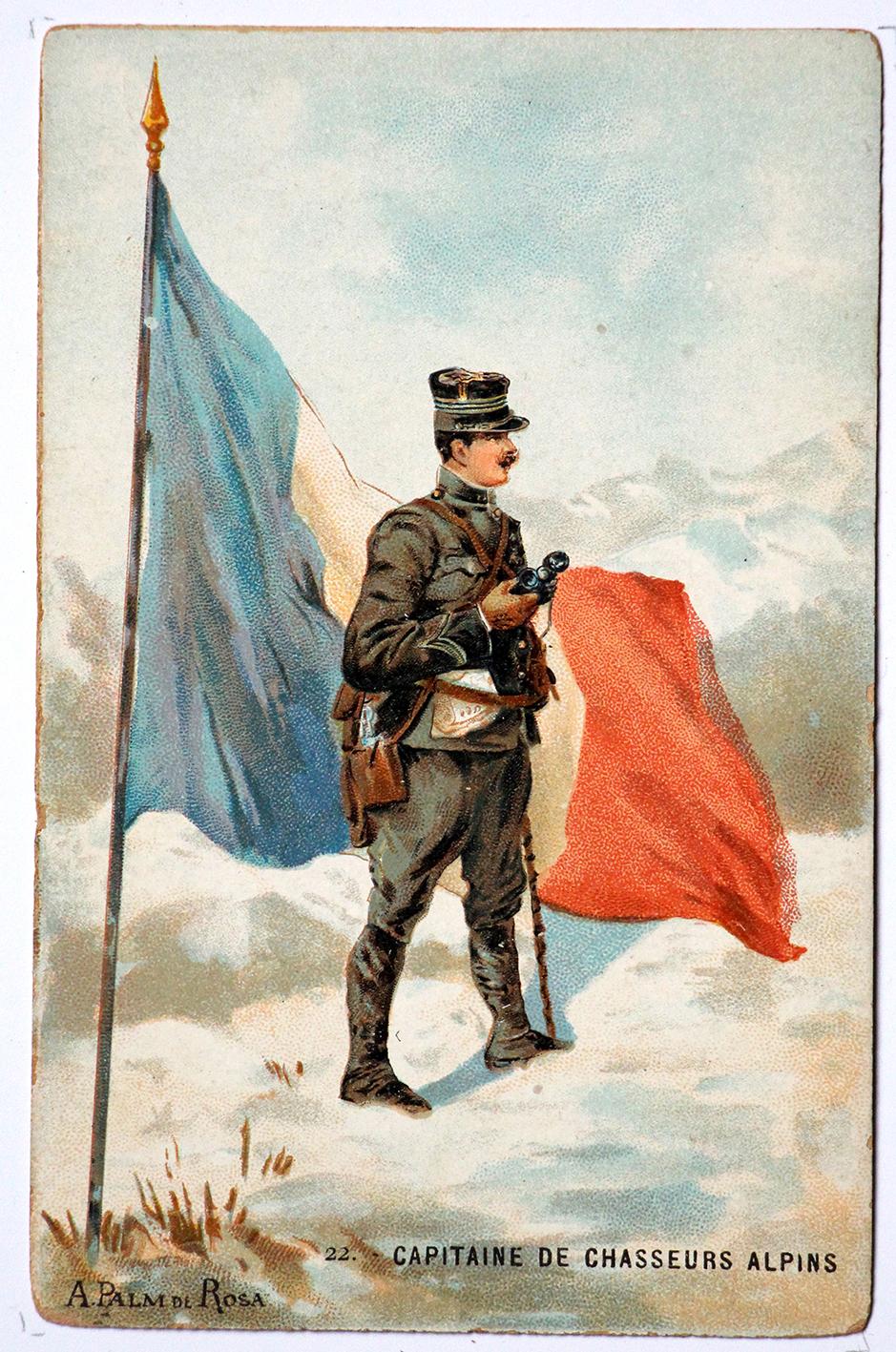 Série 48 cartes uniforme Armée Française 3éme République - 1900