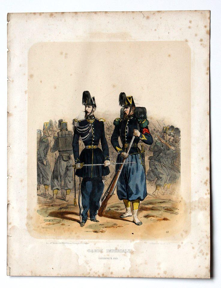 Uniforme Second Empire Chasseurs à Pied - Garde Impériale - François Hippolyte Lalaisse