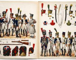 Planche sur l'armée Française N°17 - Infanteriede Ligne Elite 1804-1813 - Lucien Rousselot