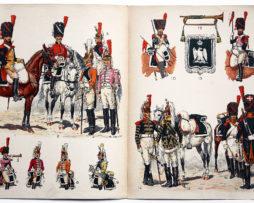 Planche sur l'armée Française N°20 - Dragons Sapeurs et Trompettes 1804-1814 - Lucien Rousselot