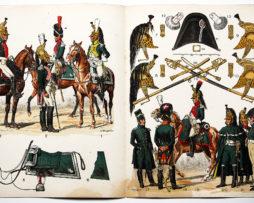 Planche sur l'armée Française N°25 - Dragons Officiers 1804-1815 - Lucien Rousselot